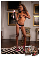 Lace And Microfiber Thong - Lg (disc)