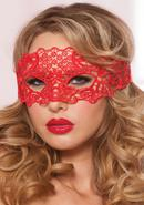 Galloon Lace Eye Mask - Red - O/s