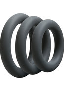 Optimale 3 Silicone C-ring Set Thick Slate