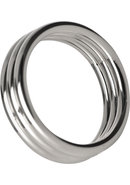 Master Series Echo Stainless Steel Triple Cockring 1.75...