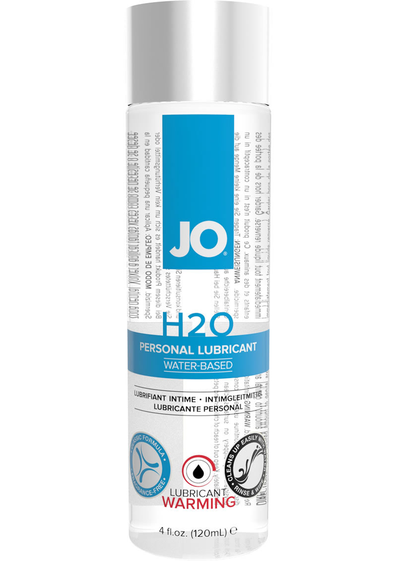 Jo H2o Warming Water Based Lubricant 4 Ounce
