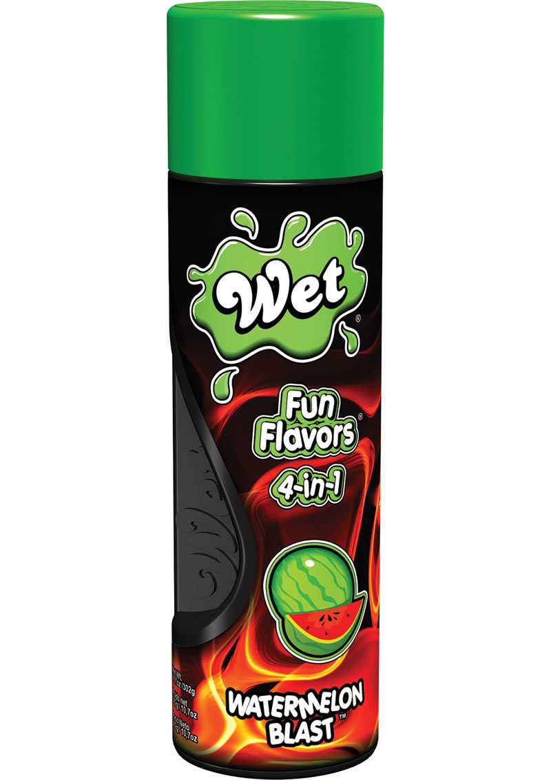 Wet Fun Flavors 4 In 1 Water Based Lubricant Watermelon Blast 10.7 Ounce