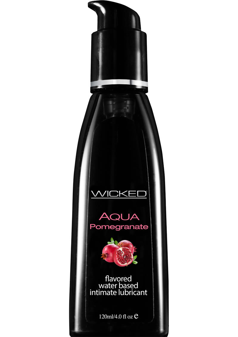Wicked Aqua Pomegranate Water Based Lubricant 4 Ounce