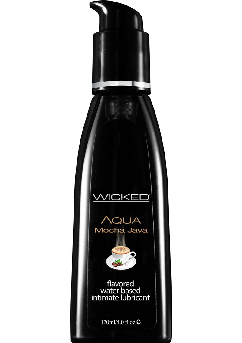 Wicked Aqua Flavored Water Based Lubricant Mocha Java 4 Ounce