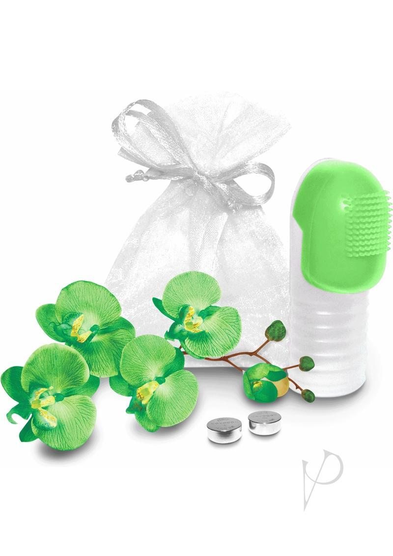 Fuzu Fingertip Massager Silicone Waterproof Neon Green