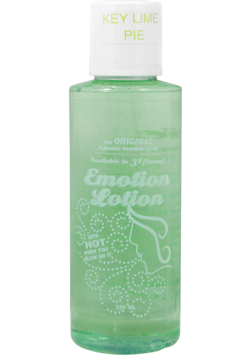 Emotion Lotion Flavored Water Based Warming Lotion Key Lime Pie 4 Ounce