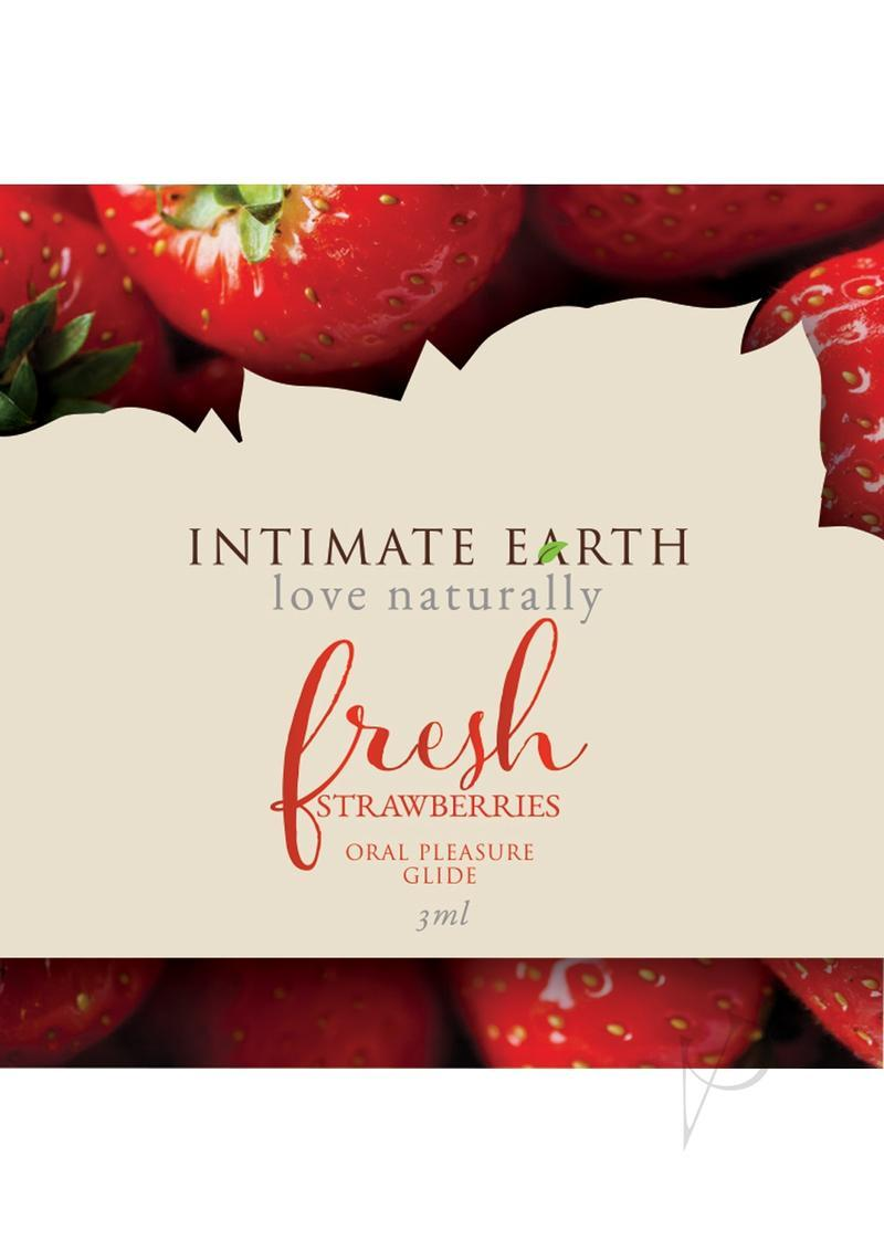 Intimate Earth Oral Pleasure Glide Fresh Strawberries 3 Milliliter Foil Pack