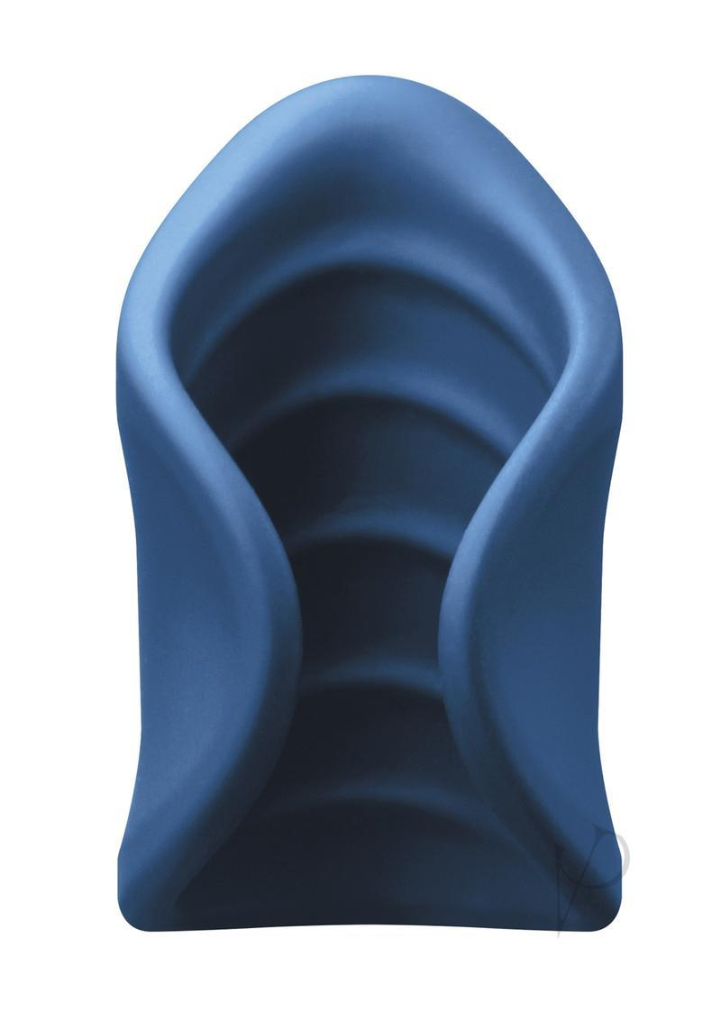 Renegade El Ray Pocket Stroker Silicone Rechargeable Vibrating - Blue