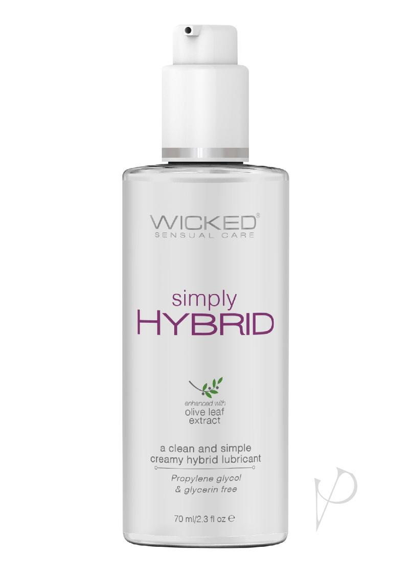 Wicked Simply Hybrid Lubricant With Olive Leaf Extract 2.3oz